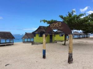 サモアの海の家;お泊り可能だそうです。
