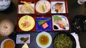 川上村「杉の湯」のランチ懐石料理:おいしかったです!