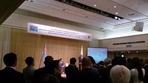 バイニマラマ首相ご挨拶中