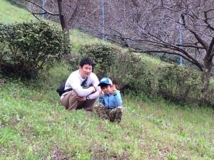 東京から親子でお手伝いに参加してくれました。Thanks,Mr.K.S.