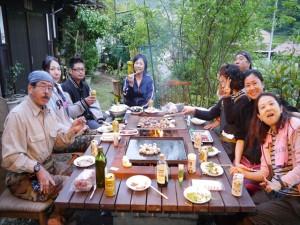 恒例のジビエバーべキューパーテイー;美味しかったね!今回は松村理事長が鹿肉を提供♡