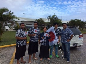 Mr.Toyoshima and his staffs in Tonga